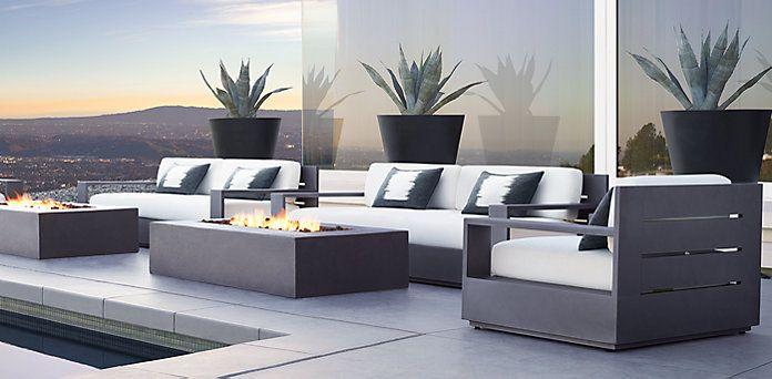 Marbella Aluminum Rh Modern Rh Furnitureoutdoor