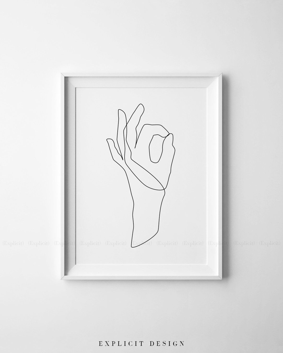 Easy Hand Drawing Black And White