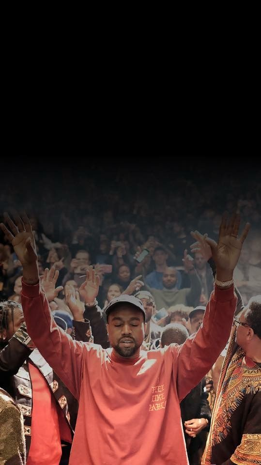 Kanye West holding your notifications Dope wallpaper