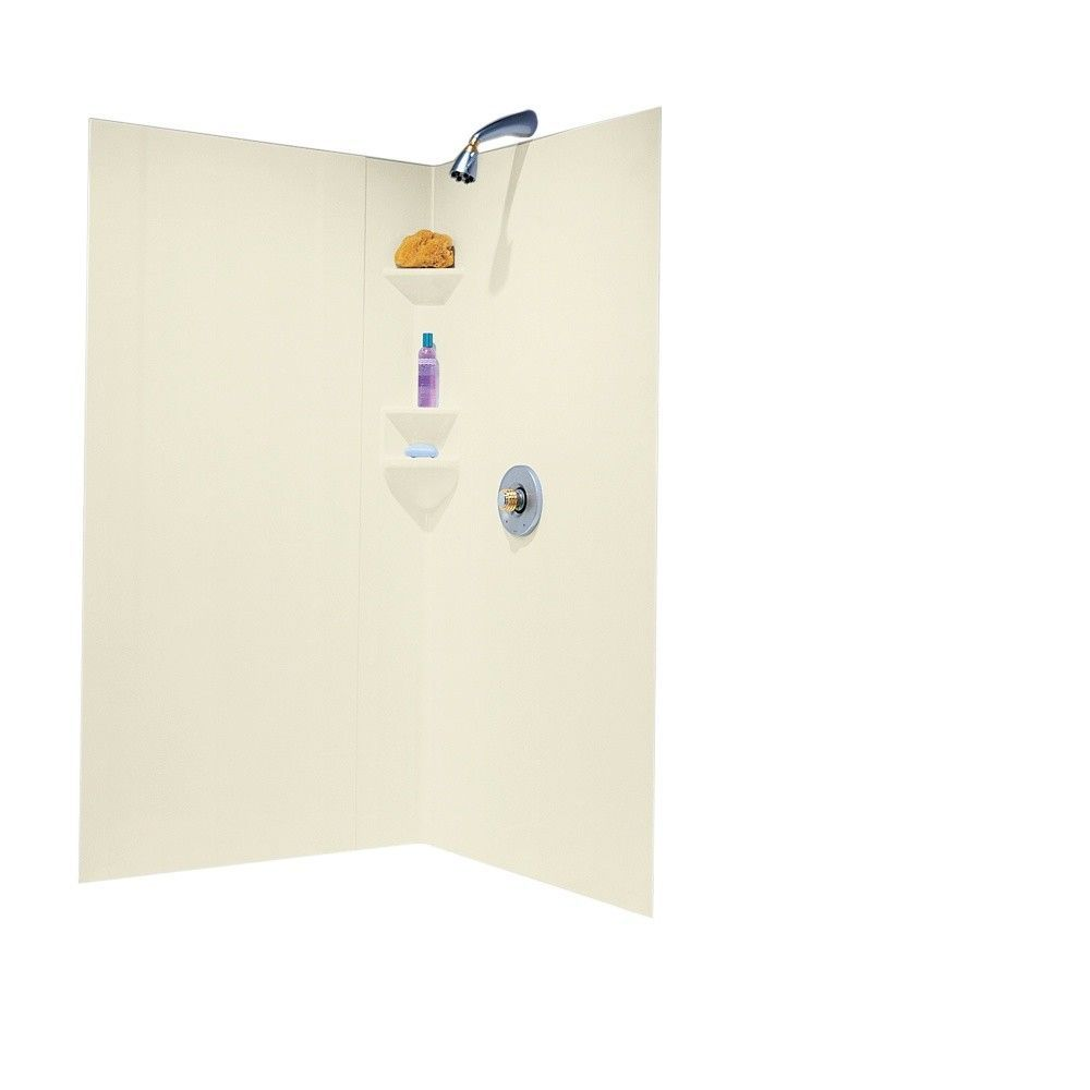 Everyday Essentials Two Panels High Gloss Shower Wall Kit | A + ...