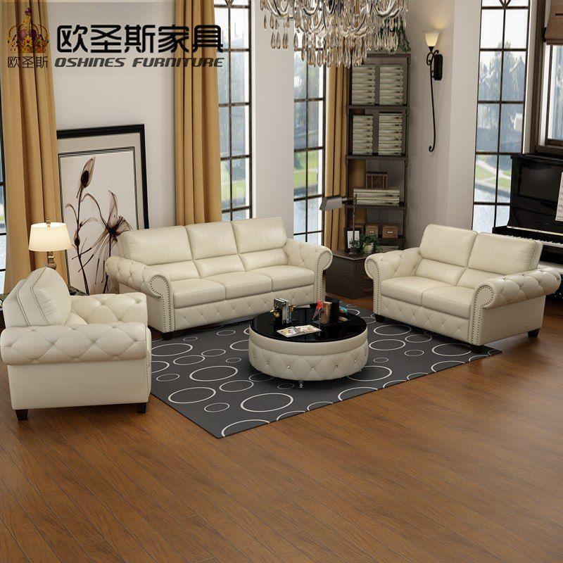 Luxury New Classic European Royal Sofa Set Designs American Style Livingroom 3 Seater Leather Living Room Sofa Design Luxury Sofa Luxury Furniture Living Room