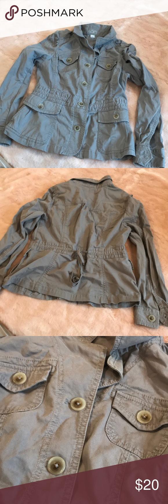 Grey/taupe loft jacket Grey/taupe jacket LOFT Jackets & Coats