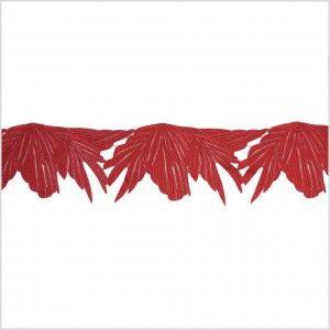 "5"" Metallic Burgundy Red Lace Trim"