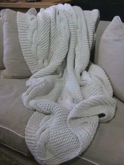 100% Cotton Heavy Cable Knit Throw Rug White | My room | Pinterest