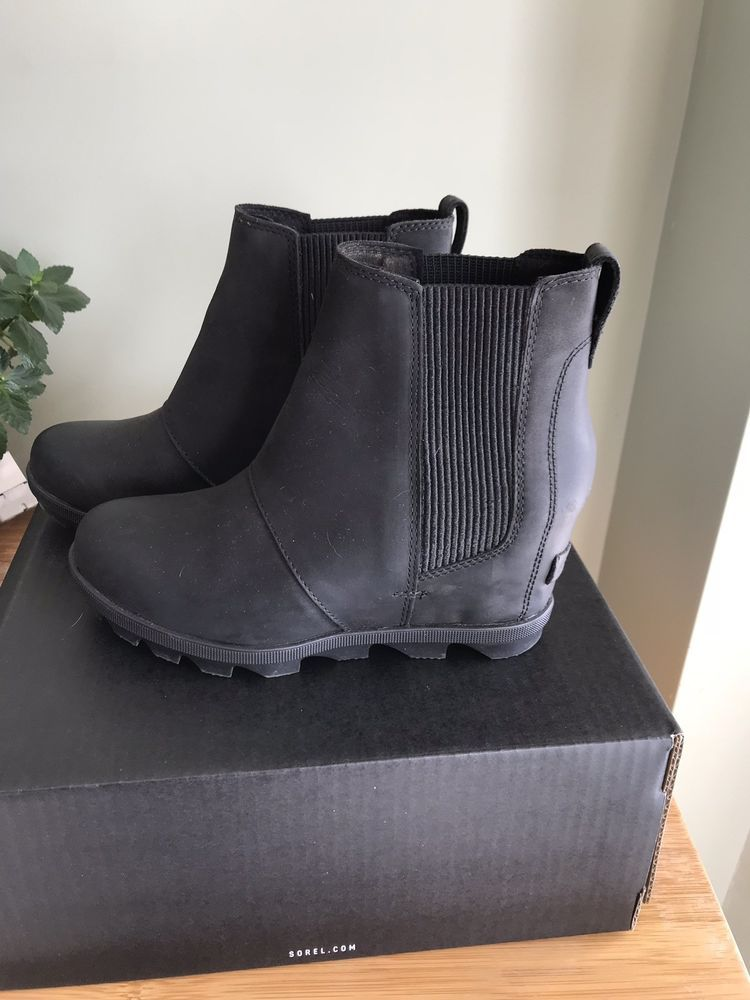 0c81b4f55e6 SOREL Women s Joan of Arctic Wedge II Chelsea Boot Black US Size 6.5   fashion  clothing  shoes  accessories  womensshoes  boots (ebay link)