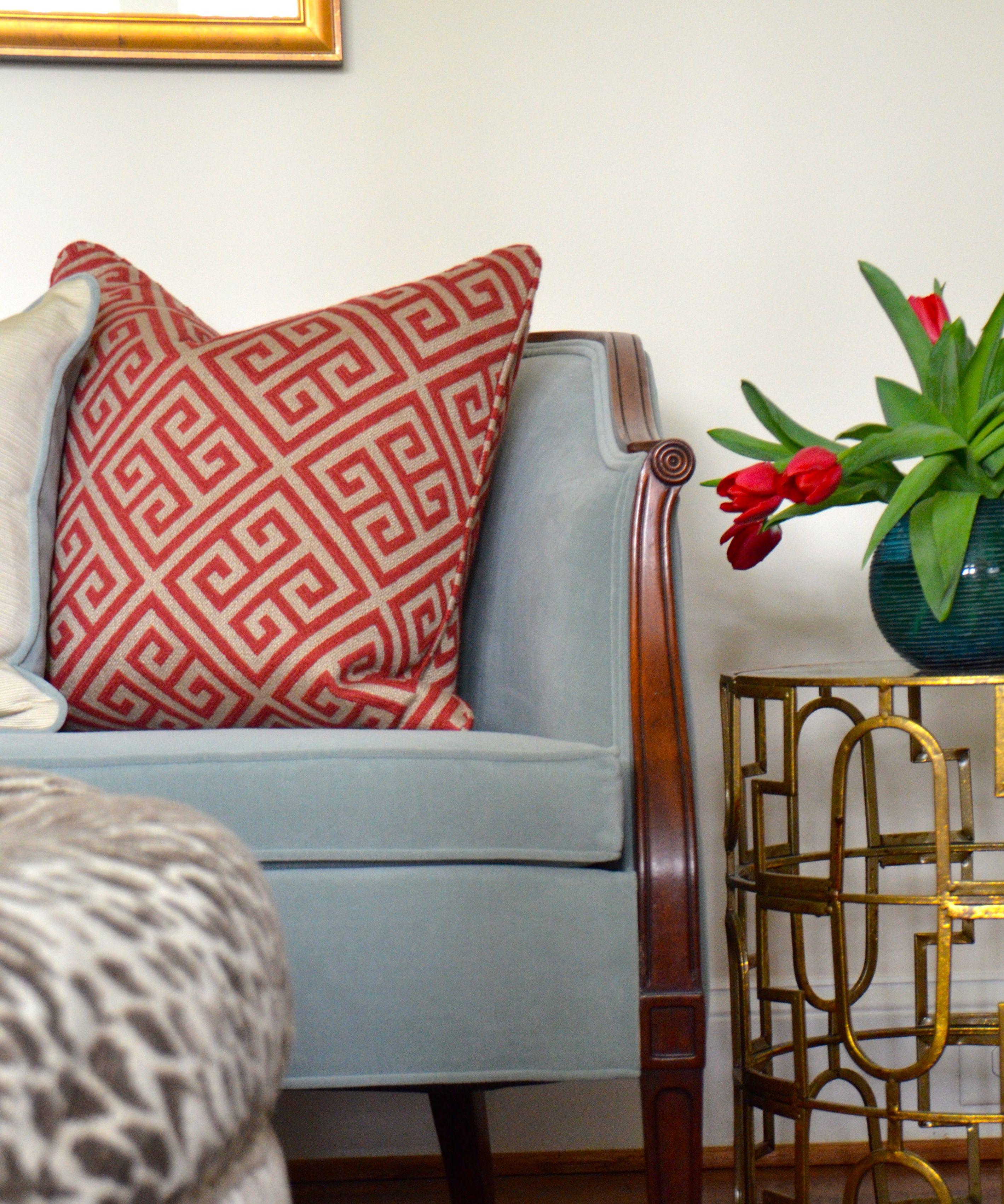 London Greek Key Wallpaper Pewter in 2020 Home decor