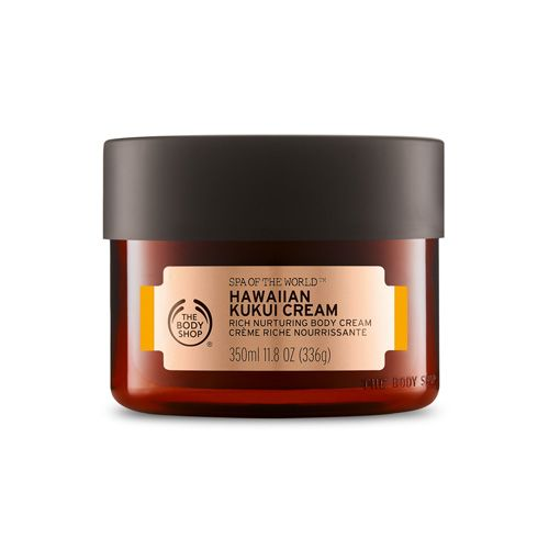Nurturing & Moisturizing Hawaiian Kukui Oil Body Cream | The Body Shop ® Hawaiian women, exposed to the relentless sun for generations, have held the secret of kukui oil to nurture their skin. Bursting with luscious moisture, kukui oil restores skin's natural suppleness, leaving it nourished and glowing.
