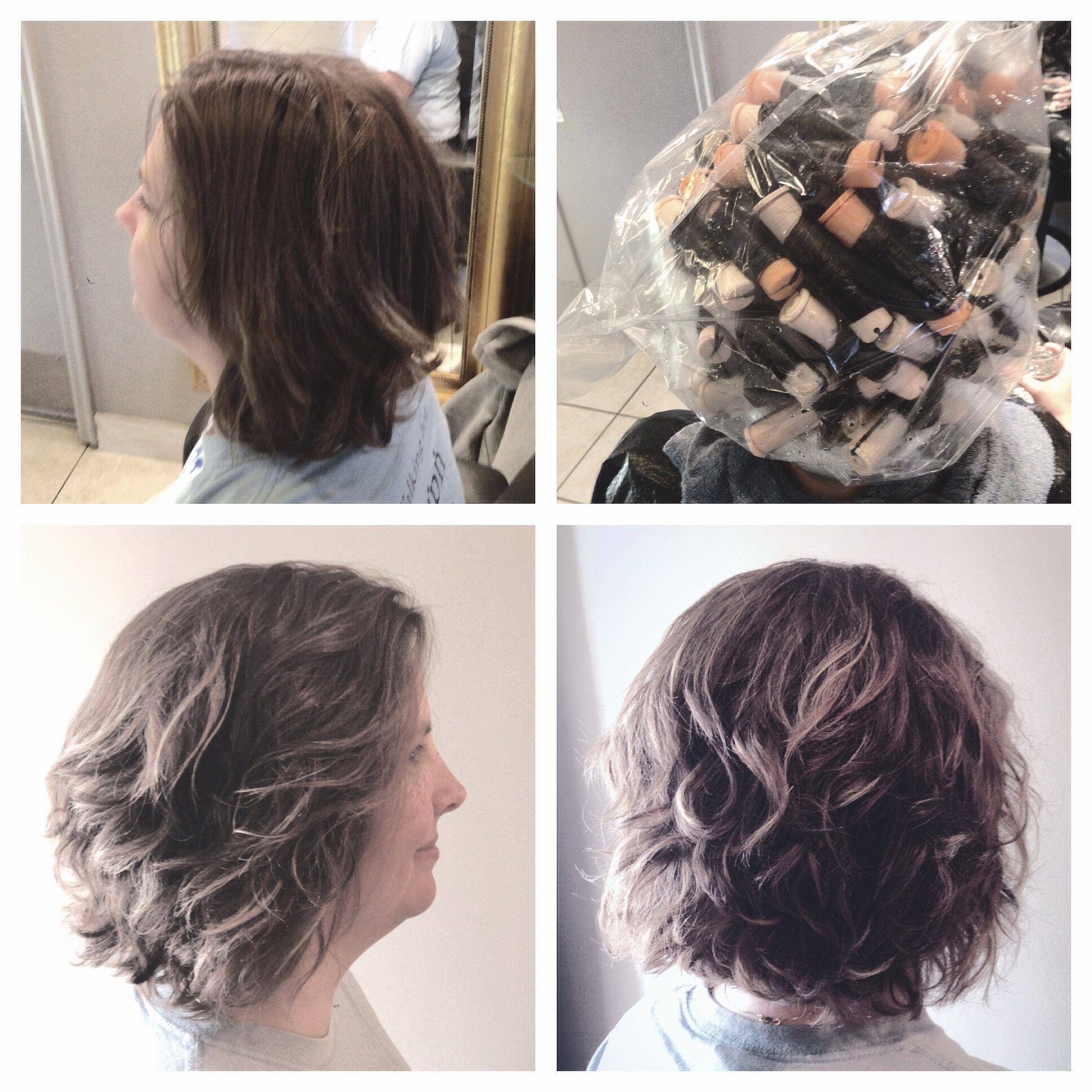 spiral perm on a bob // body wave | hair by annifaye: my