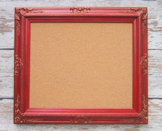 DECORATIVE Framed CORK BOARDS For Sale Memo Board White Shabby Chic  Corkboard Home Message Board French