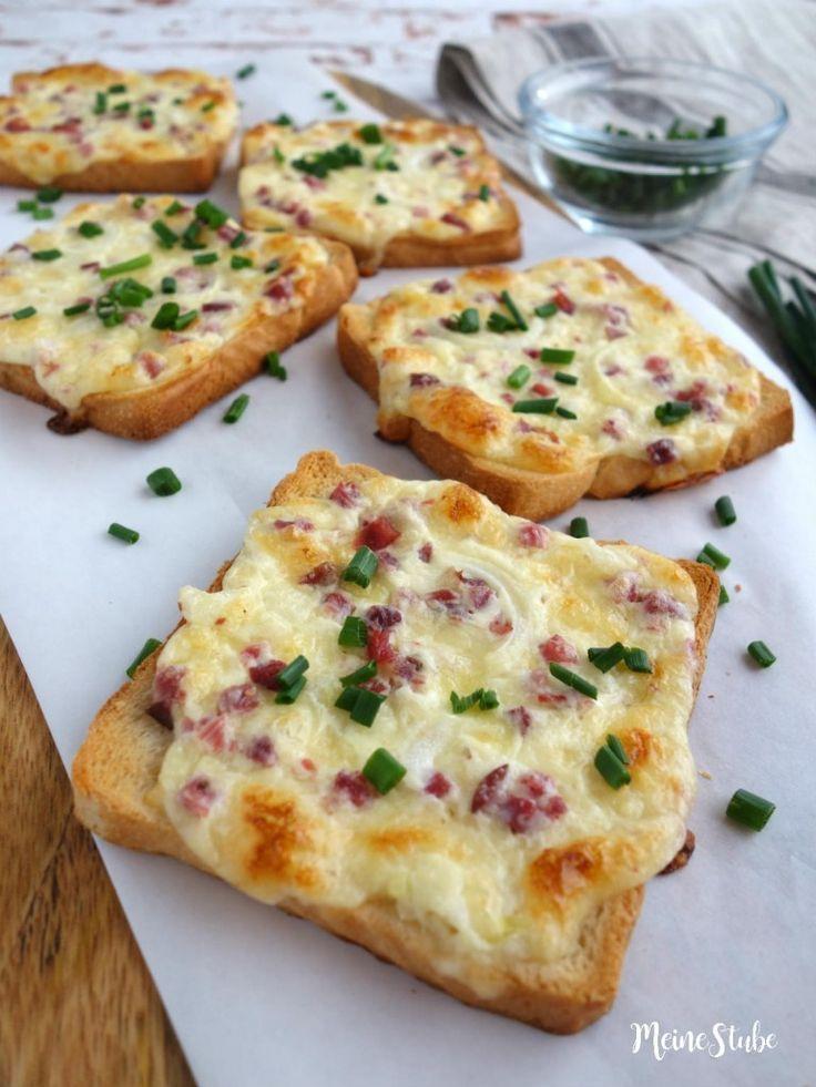 Flammkuchen Toast mit Speck und Zwiebeln – MeineStube – Else&Frühstücksideen – Carey&CleanEatingS