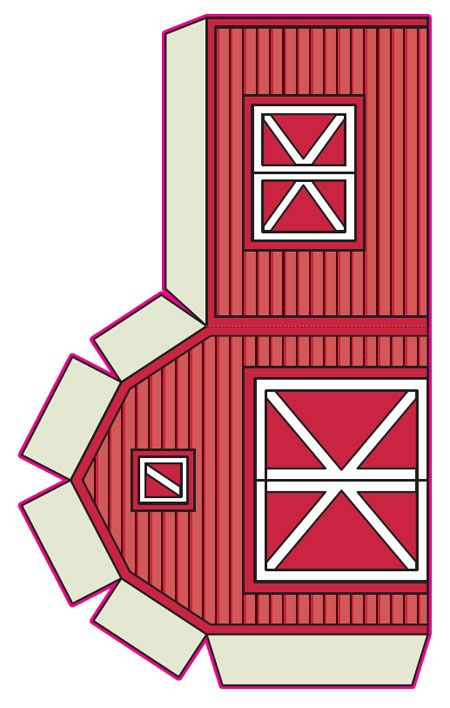 photo about Barn Printable identify Printable purple barn paper toy down upon the farm concept