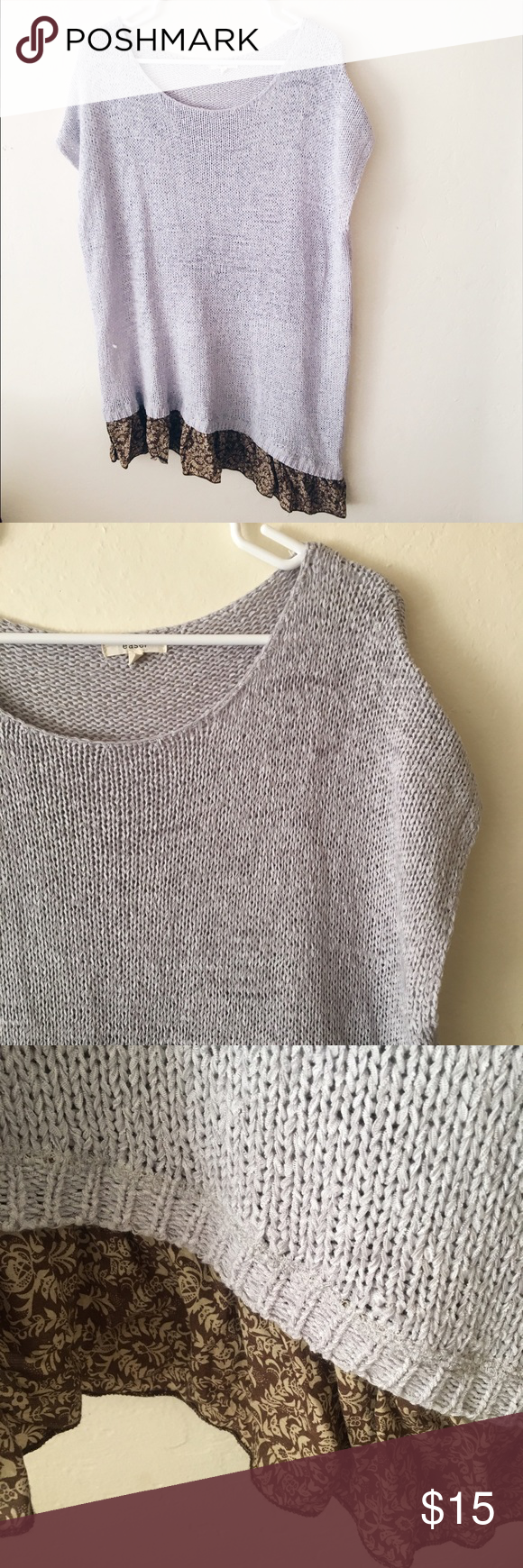 Cap sleeve sweater dress | Sleeve, Grey and Knit sweater dress