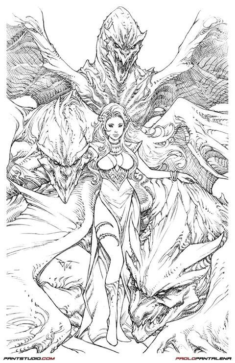 Game Of Thrones Daenerys Tagaryen Mother Of Dragons By Paolo