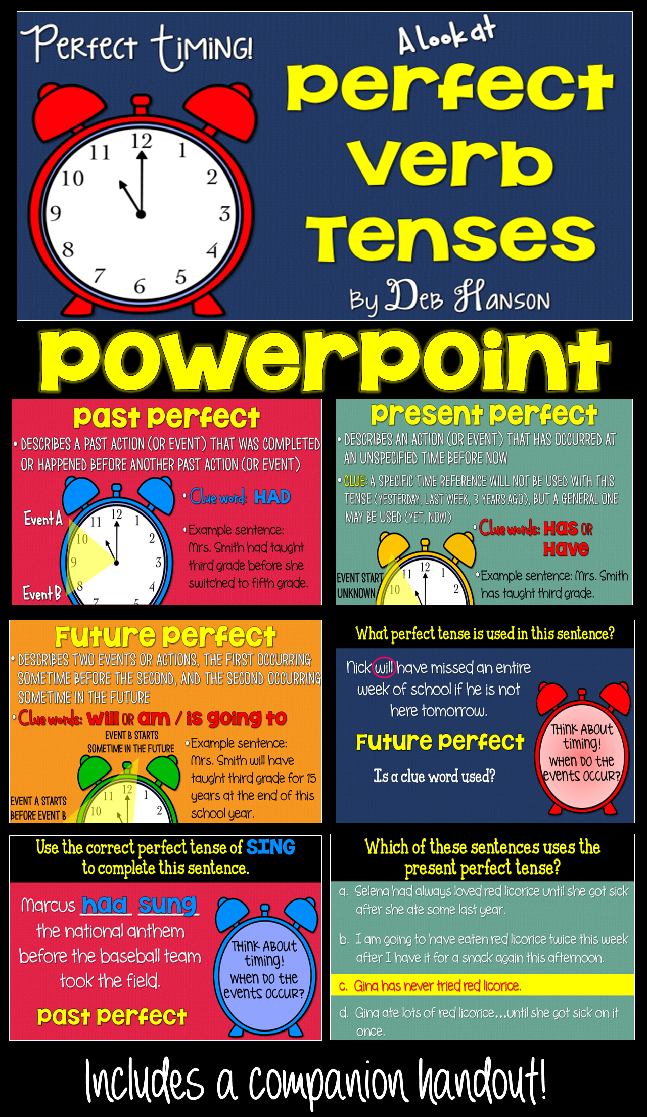 Perfect Verb Tenses Powerpoint A Perfect Way To Introduce Past
