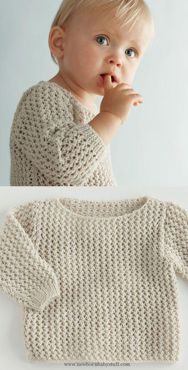 Baby Knitting Patterns A soft spring sweater, available in different ...