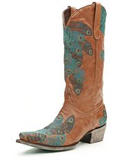 Lane Embroidered Tail Feather Boots