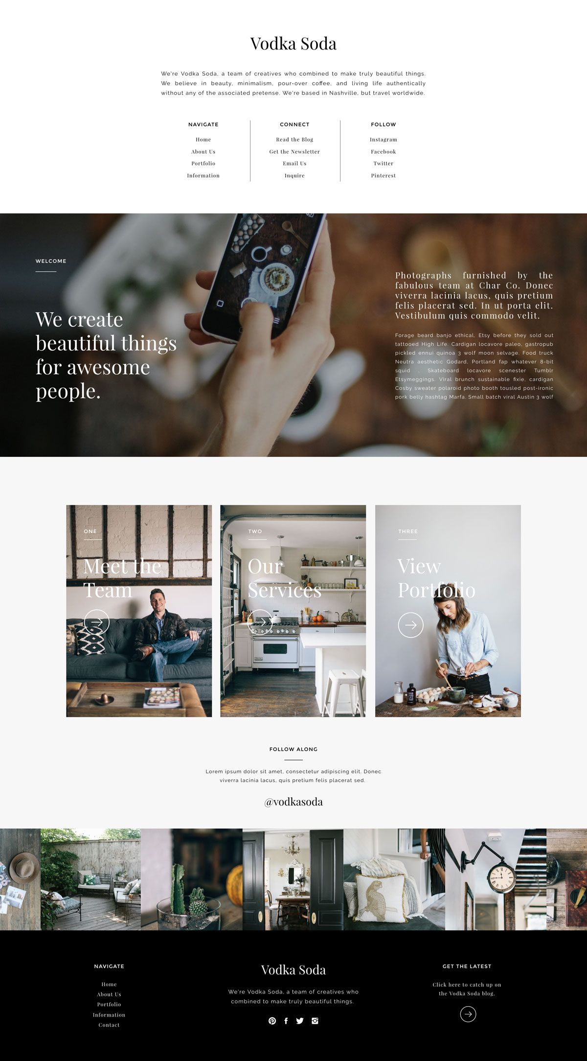 Vodka Soda Showit Premium Photography Website Template By Tonic
