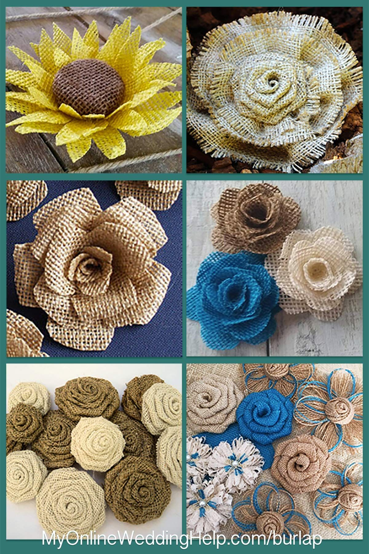 How to make rustic burlap flowers tutorial and video pinterest if you do not have time or know how to do it yourself an izmirmasajfo
