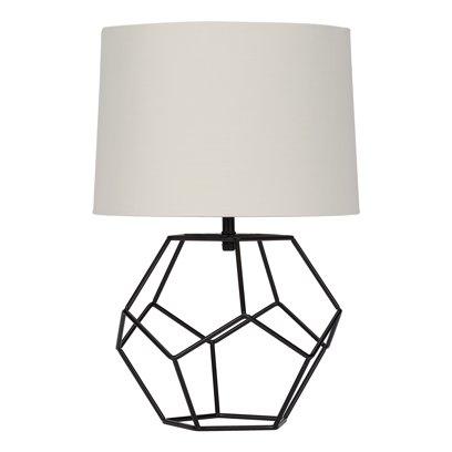 Black Geometric Lamp Walmart Com Metal Table Base Geometric Lamp Black Tripod Floor Lamp