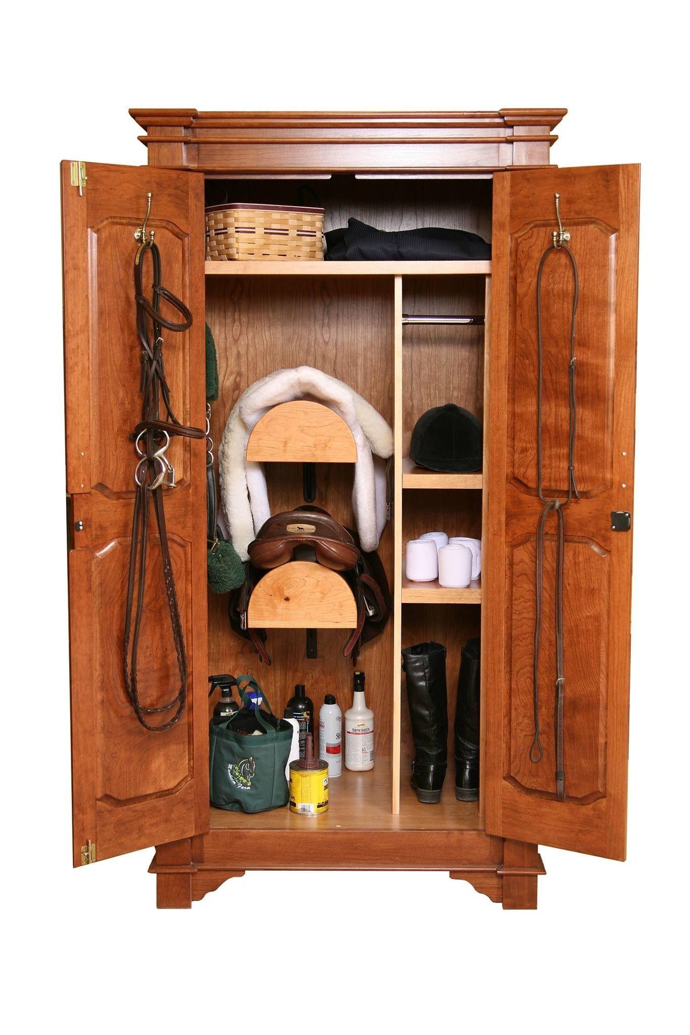 Tack Cabinets :: Cherry Armoire - | Tack box, Horse tack ...