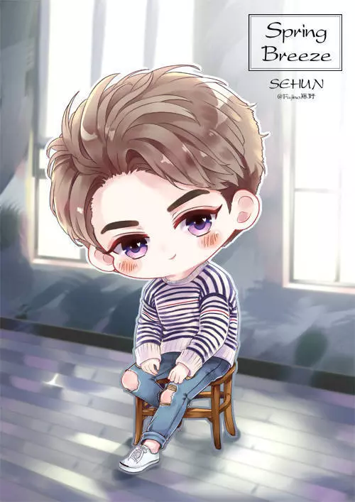 Cute Bts Drawings Wallpaper Chibi Photo Exo Sehun Exo Fanart Pinterest Sehun