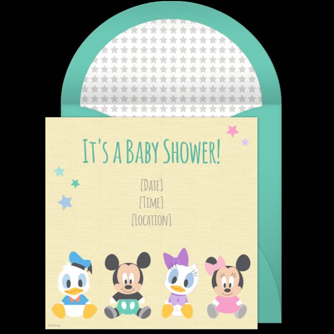 Free Disney Baby Shower Invitations Disney babies Shower