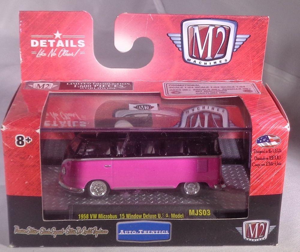 d4584f0ff3 Details about M2 machines auto-thentics 1958 VW microbus 15 window ...