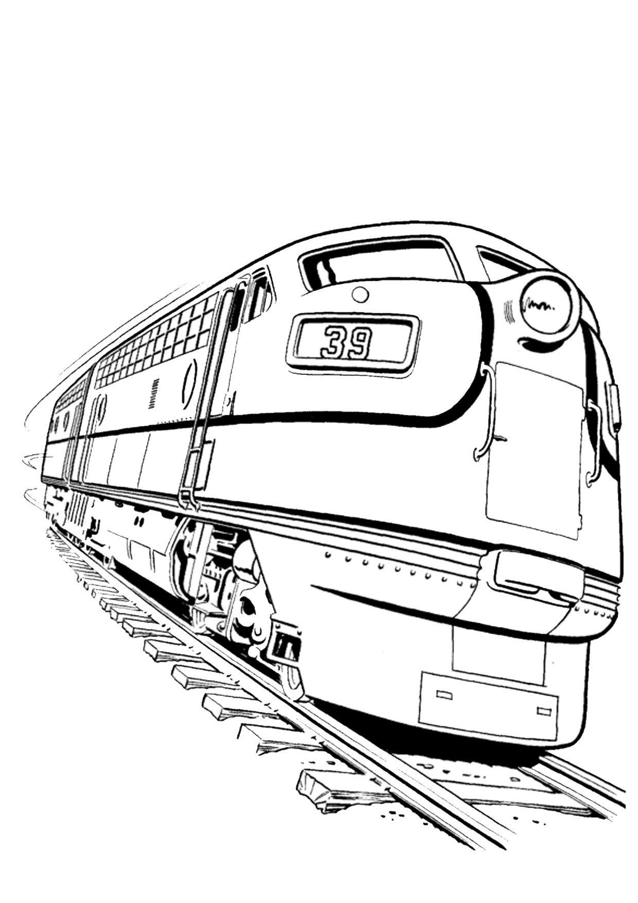 45 Disegni Di Treni Da Colorare Disegni Colori Treno