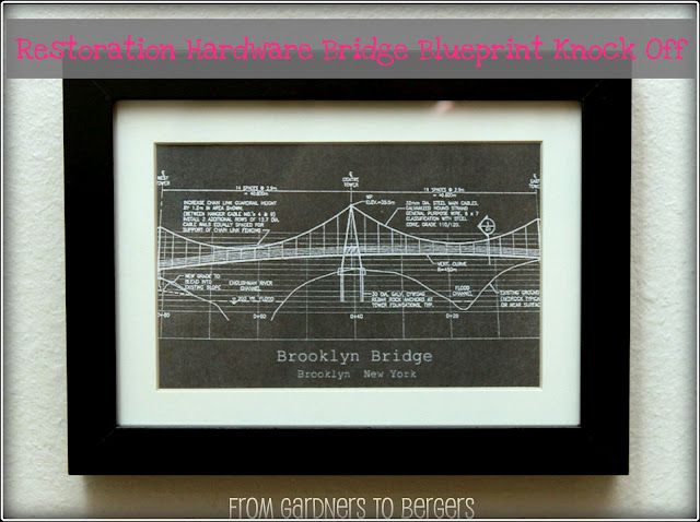 ✥ Restoration Hardware Inspired Blueprint Art ✥ Blueprint art - copy plane blueprint wall art