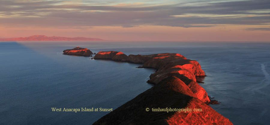 West Anacapa Island at Sunset