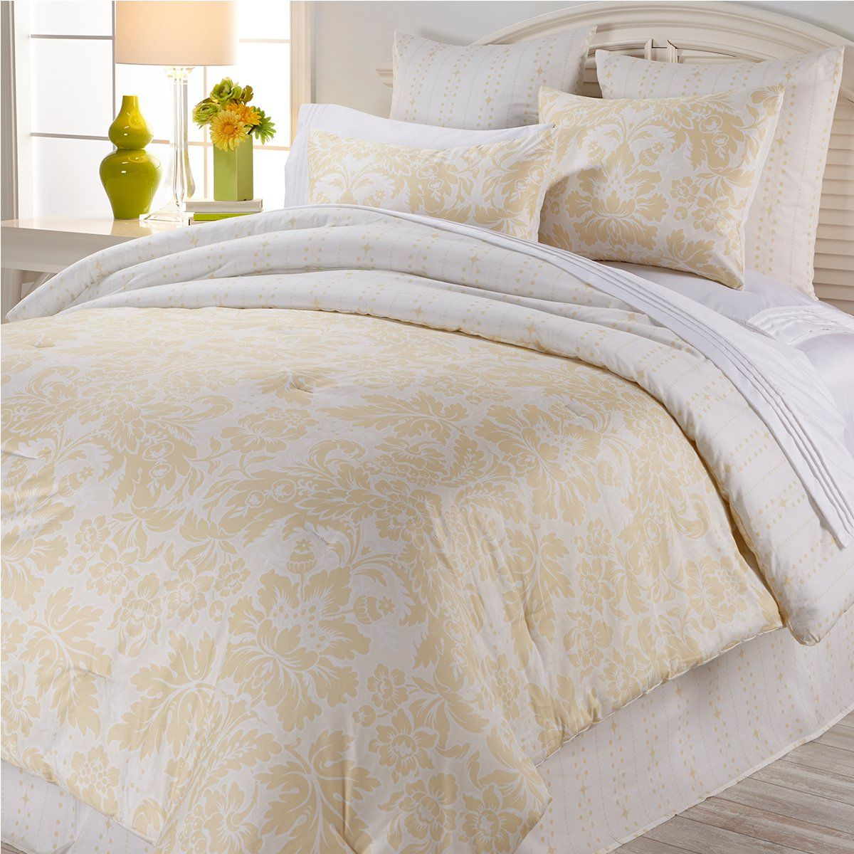 Anna Griffin Olivia 6 Piece Cotton Comforter Set Hsn Comforter Sets Cotton Comforter Set Home Bedroom