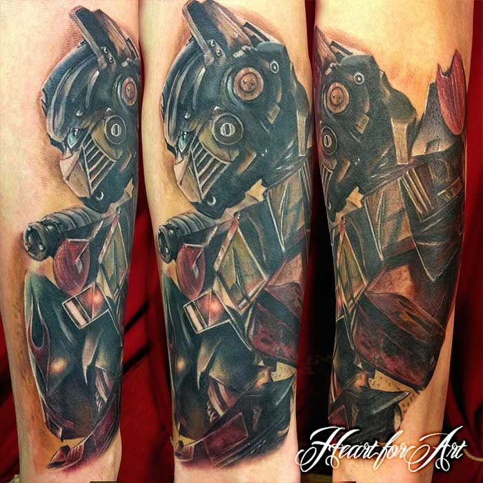 Here's a tattoo dony by Danny of Optimus Prime from the ...