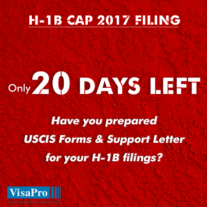 20 Day H1B Cap Red Alert Prepare USCIS Forms and Support