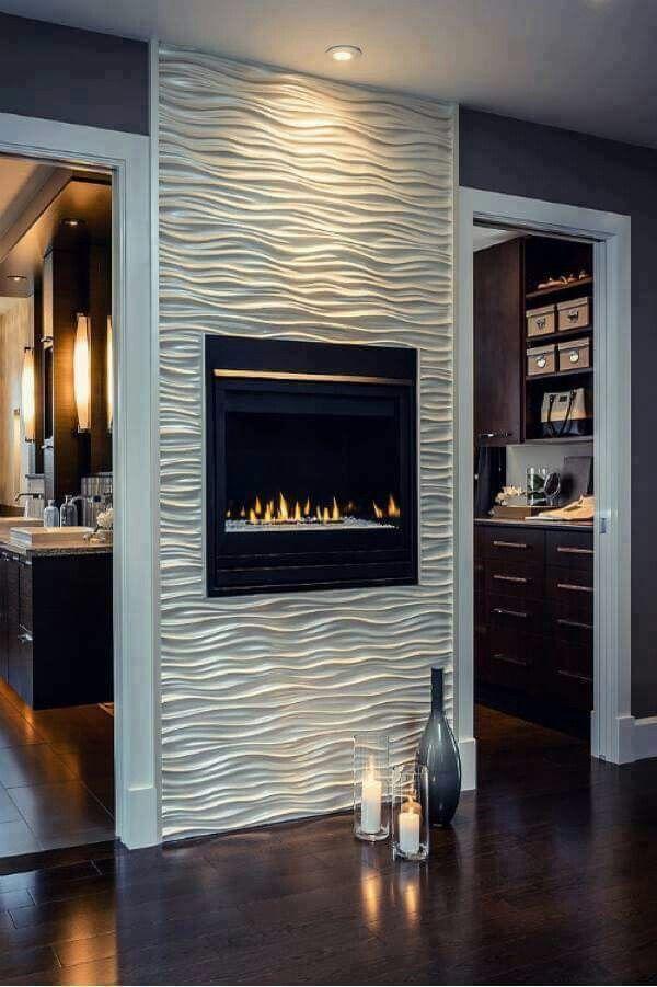 Pin de Maria Jose en Diseno Pinterest Decoracion apartamentos - diseo de chimeneas para casas