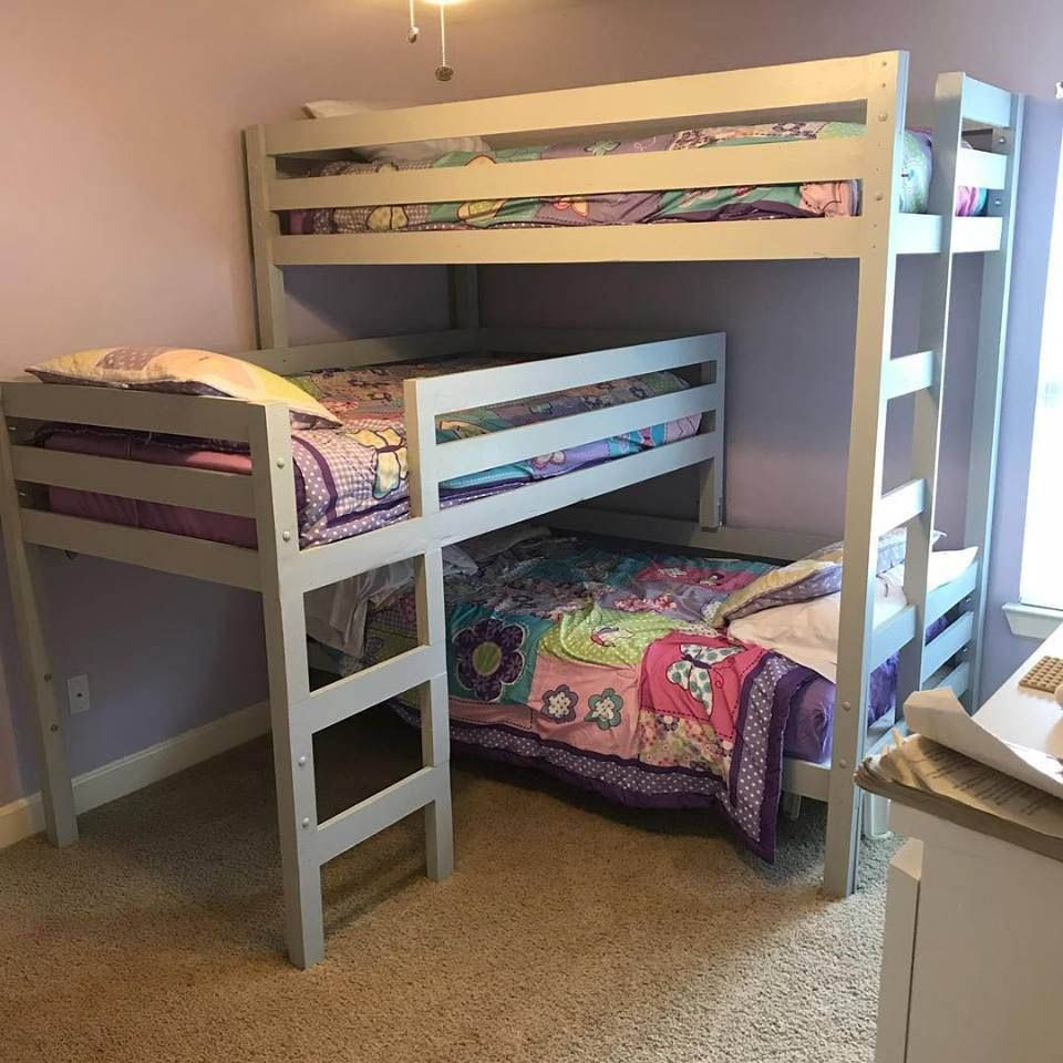Free Diy Bunk Bed Plans Ideas That Will Save A Lot Of Bedroom Space Diy Bunk Bed Bunk Bed Plans Cool Bunk Beds
