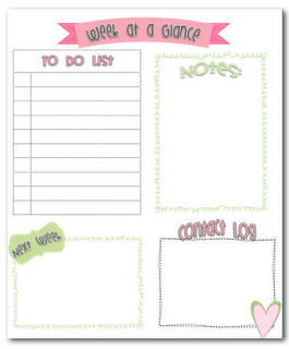 week at a glance organizer