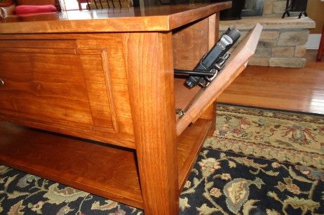 Coffee Table With Secret Gun Stash Compartment