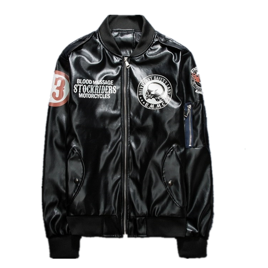 75.00$  Watch now - http://aliv3k.worldwells.pw/go.php?t=32763012037 - Free shipping 1pcs Cool Men's Outdoor Motorcycle Racing PU Leather Jacket Riding Coat Jacket 75.00$