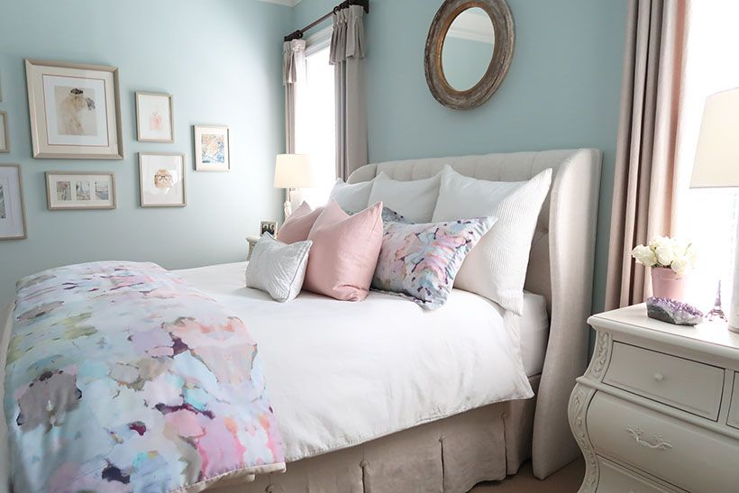 Best New Blush And Gray Master Bedroom For Fall With Images 400 x 300
