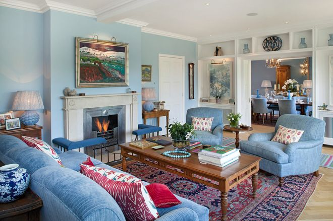Colour Celebrating The Perennial Appeal Of Duck Egg Blue Blue Sofas Living Room Blue Furniture Living Room Blue Walls Living Room