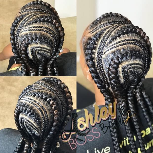 44 Goddess Braids Styles for Black Hair (Trendy Hairstyles To Try in 2019) #goddessbraids