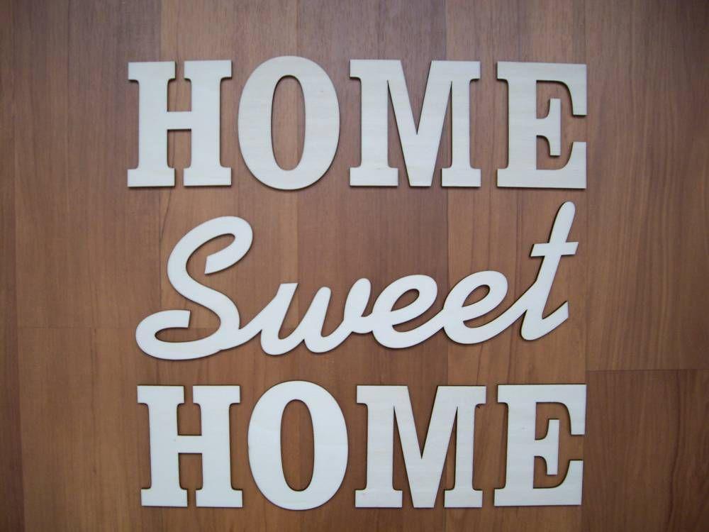Tabuľky - Vyrezávané písmená - HOME Sweet - 4728221_