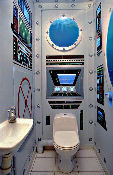 Wc submarin wc insolites pinterest vous avez fait les toilettes et id e de d coration for Peinture wc original