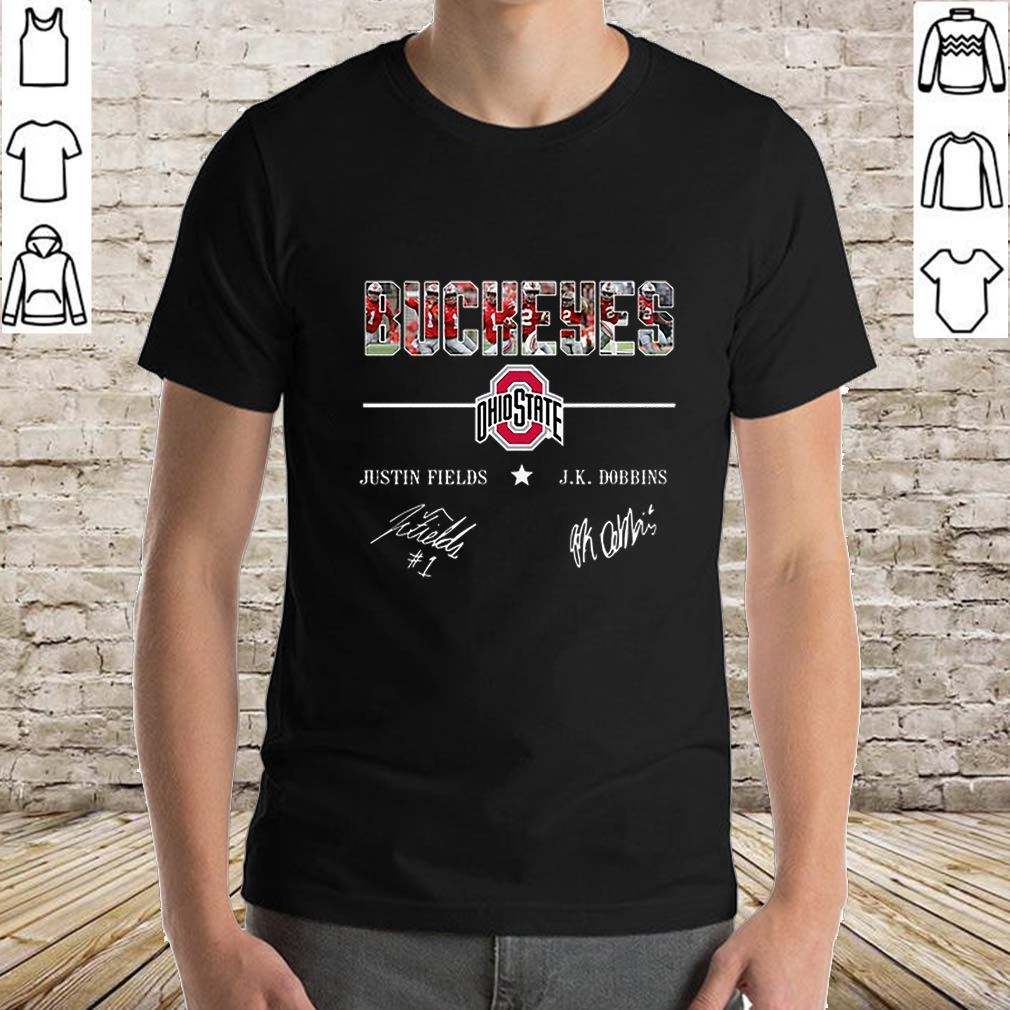 Official Ohio State Buckeyes Justin Fields And Jk Dobbins Signatures Shirt Ohio State Buckeyes Justin Fields Ohio State