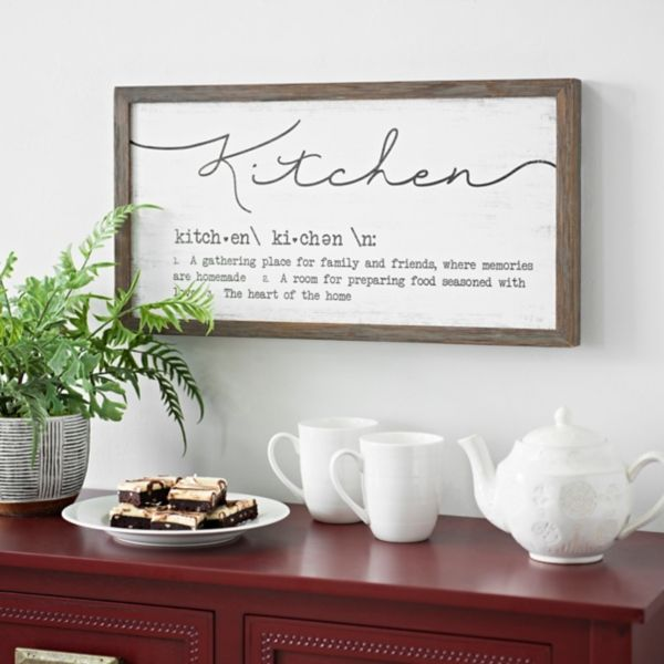 Kitchen Definition Wall Plaque from Kirkland's in 2020 ...