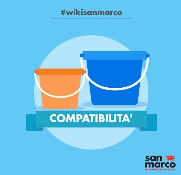 La compatibiltà indica la possibilità di mescolanza tra due o più prodotti vernicianti. -- The compatibility indicates the possibility of mixing between two or more coating products. #wikisanmarco #compatibilità