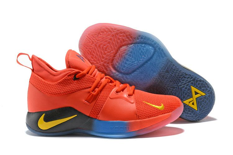 cc38a10a6ee Nike Zoom PG2 Playstation Mens Original Basketball Sports University Red  Yellow Black Blue