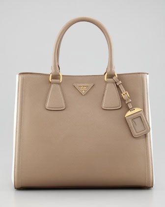 Saffiano Bicolor Tote Bag by Prada at Neiman Marcus.  1dc6694432a