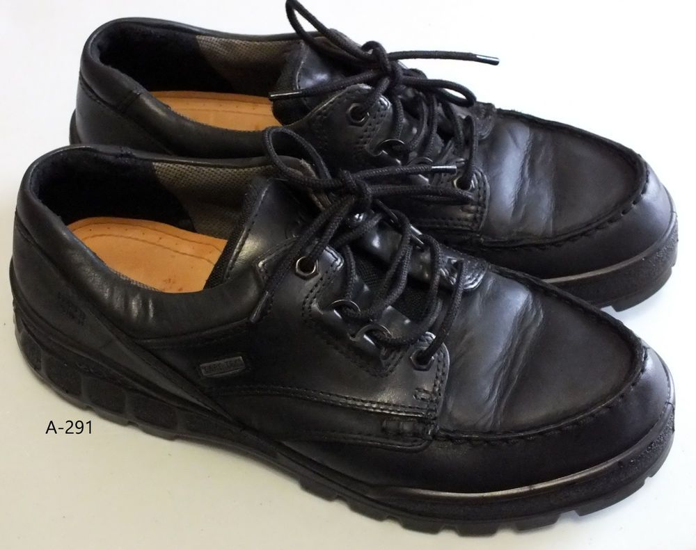 35c1f649276a Ecco track goretex water proof oxford shoes black leather men size EUR 43  US 9.5  ECCO  Oxfords