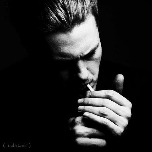 عکس مرد سیگاری Black And White Portraits Man Photography Low Key Portraits